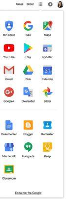 Googlekonto tenester