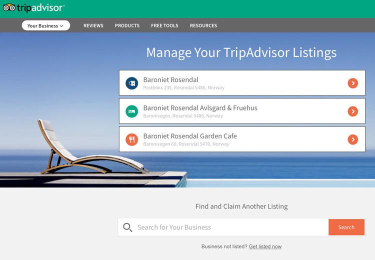 Tripadvisorkurs for reiselivsbedrifter - oppføring med flere bedrifter